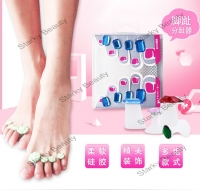 Silicone Toe Separators Stone Design Spacers for Home and Salon Pedicures